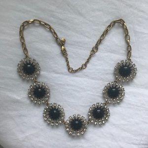 J. Crew navy blue with crystals necklace